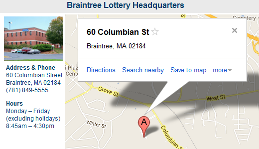 Braintree Lottery Headquarters